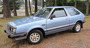 click for more on the 1987                    GL 3 door Lake Blue metallic hatchback