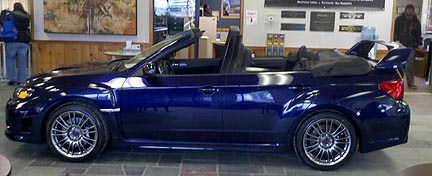 2011 STI convertible at Manchester Subaru