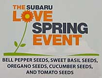 click for more photos for Subaru's March 2013 Spring Love Event
