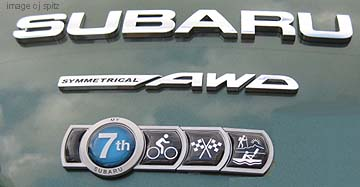 subaru badge of ownership with emblems for