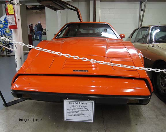 1975 Bricklin, front end shown