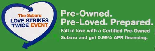 subaru certified pro-owned event june 1-july 1 2013