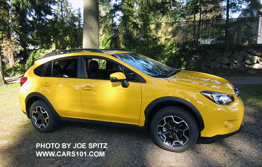 2015 Subaru Crosstrek Premium Special Edition, Sunrise Yellow color.