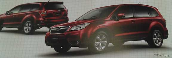 2014 subaru forester japanese brochure scan