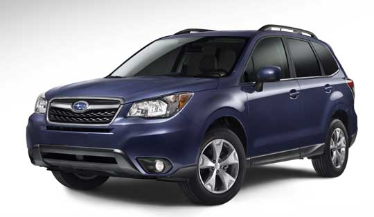 2014 subaru forester- early publicity photo
