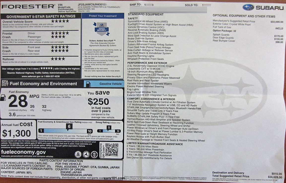 2 x Subaru Window Decal Sticker Graphic **Colour Choice**