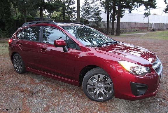 2012 Impreza Camillia Red Pearl 5 Door Hatchback