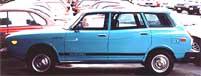 1977 blue Subaru