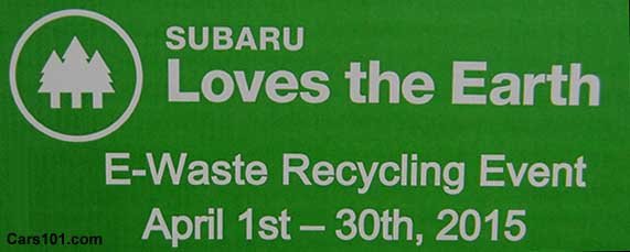 Subaru Western Area Dealers Electronic Waste Recycling Event April 2015