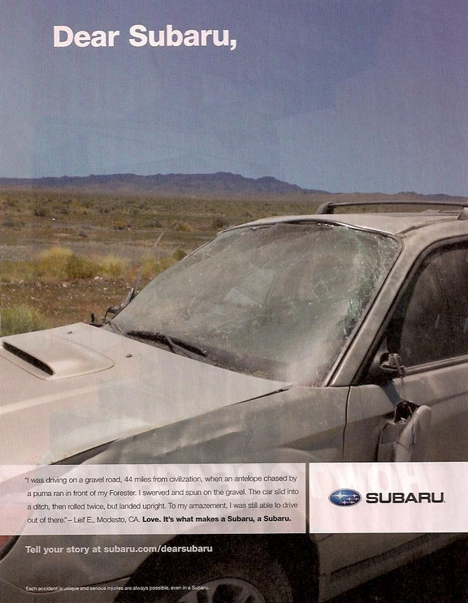 Subaru Forester ad, March 2011