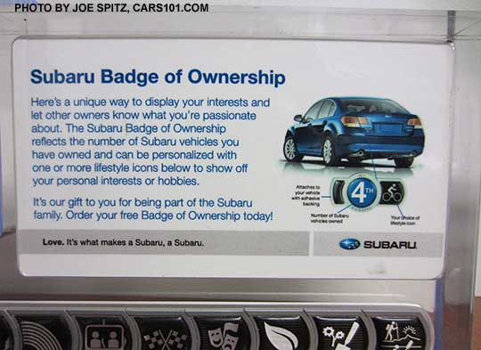 Subaru Badge Of Ownership Description