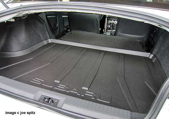 Subaru Brz Option Trunk Cargo Tray Shown With Rear Seat Down