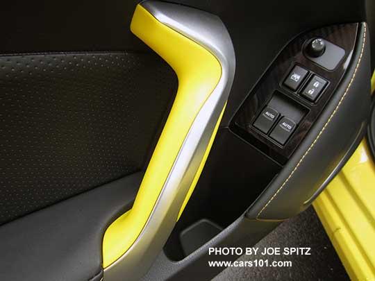 2017 Subaru Brz Limited Series Yellow Driver S Door Panel