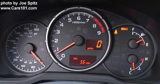 2017 Subaru Brz Premium Dash Gauges Analog Speedometer To