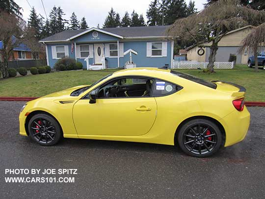 Only 500 Made 2017 Subaru Brz Limited Series Yellow All Charlesite
