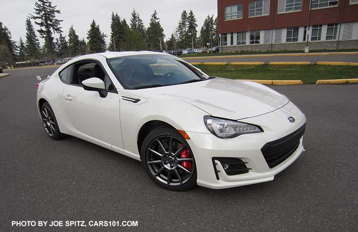 Crystal White 2017 Subaru Brz Limited With Optional Performance Package 02
