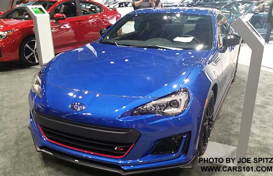 front view 2018 subaru brz ts with with front underspoiler. Black Bedroom Furniture Sets. Home Design Ideas
