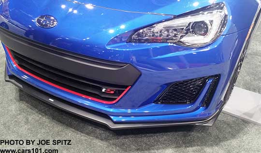 closeup of the 2018 subaru brz ts front grill with red. Black Bedroom Furniture Sets. Home Design Ideas