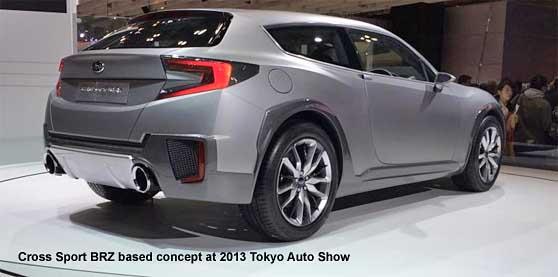 Rear View Cross Sport Brz Wagon At 2017 Tokyo Auto Show
