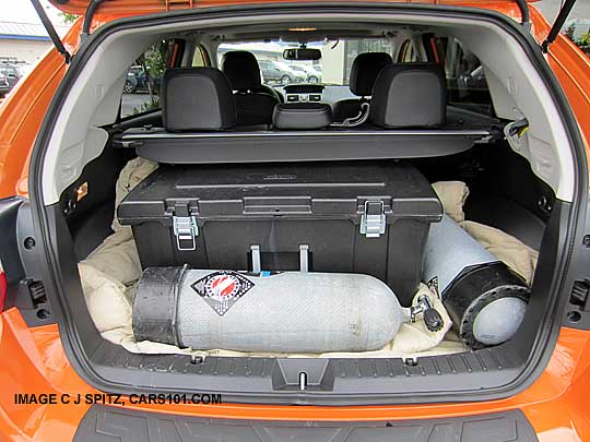 2017 Subaru Crosstrek With Scuba Diving Tanks In The Cargo Area