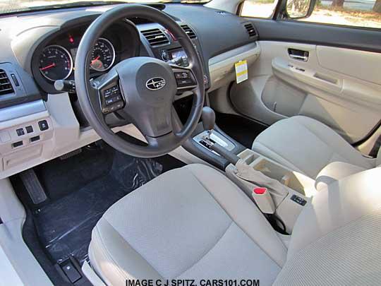 Ivory Interior Subaru Xv Crosstrek Premium