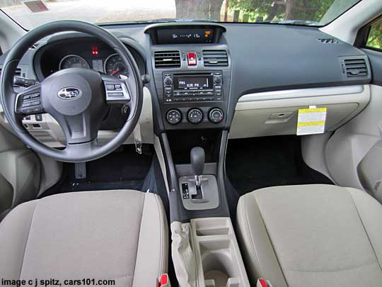 Crosstrek Beige Interior With Ivory Cloth Shown