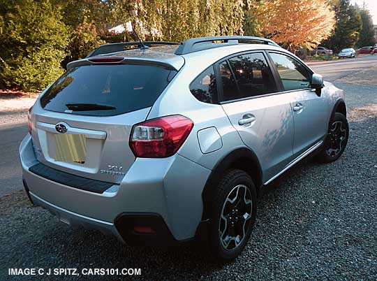Ice Silver Crosstrek Rear Gate View