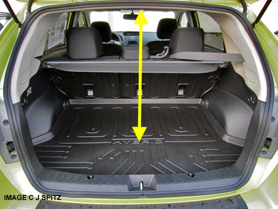 Crosstrek Hybrid Cargo Area Floor Ceiling Height Measures 28 The Std Is
