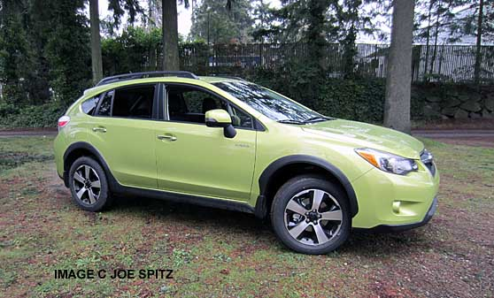 Side View Plasma Green Subaru Crosstrek Hybrid