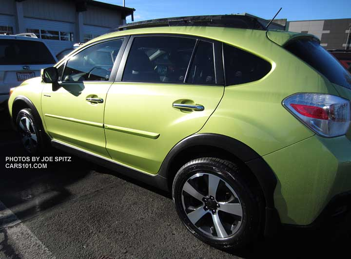 Subaru Crosstrek Hybrid Optional Body Side Moldings Plasma Green Shown