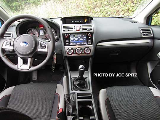 2016 Subaru Crosstrek Premium Black Cloth With Orange Sching Silver Dash Trim Manual Transmission