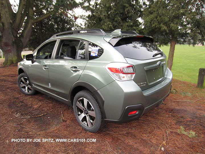 2016 subaru crosstrek hybrid touring jasmine green color shown with the optional rear bumper. Black Bedroom Furniture Sets. Home Design Ideas