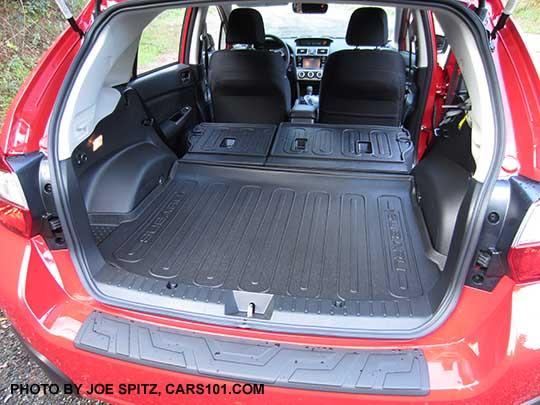 2017 subaru crosstrek cargo floor with seats folded flat - Subaru crosstrek interior lighting ...