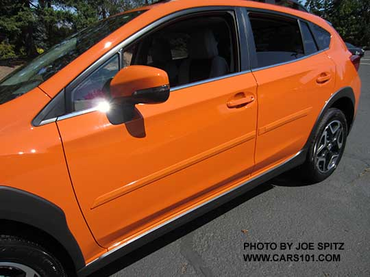 2018 Subaru Crosstrek Optional Body Side Moldings Sunshine Orange Car Shown