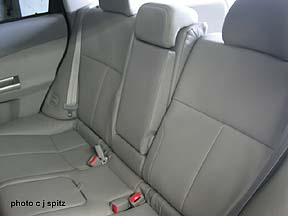 perforated leather rear seats recline shown with driver side reclined & 2009 Subaru Forester interior photos and images islam-shia.org
