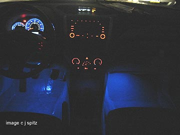 New Illumination Kit For The Front Footwells Blue Shown