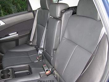 split rear seats recline on all models except X. You can see in this picture that the driver side seat is leaning back more than the passenger side. & 2012 Forester interior photographs and images islam-shia.org
