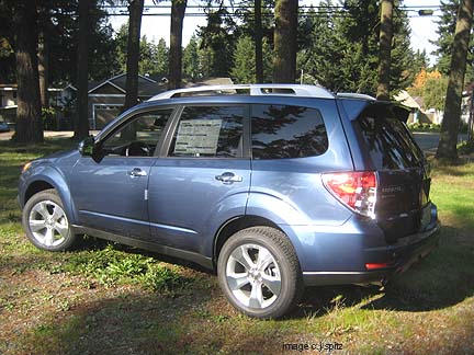 2011 Subaru Forester XT Touring turbocharged model- new Marine Blue color shown & 2011 Subaru Forester- specs images details prices