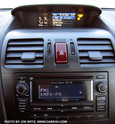 2017 And Subaru Forester Has 2 Audio Displays Except With Nav