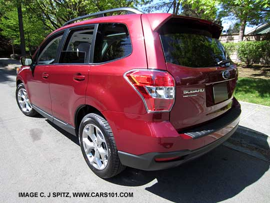 Rear View 2017 Forester Touring With The New High Er 18 Alloy And Lower Rocker