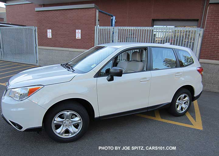 2016 Forester 2 5i Base Model With Steel Wheels And No Roof Rails White Shown