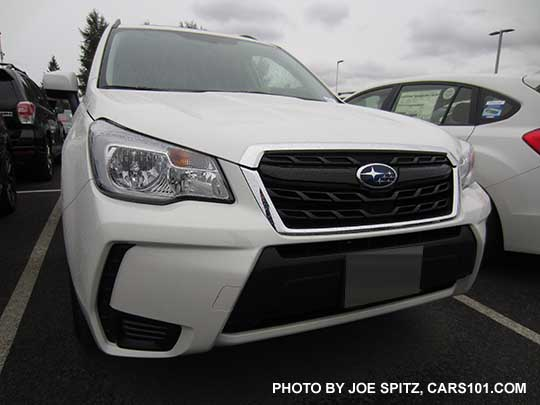 2017 Subaru Forester 2.0XT Premium front view, crystal white color shown