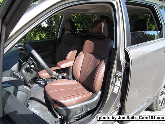 2017 Subaru Forester 2.5i and 2.0XT Touring saddle brown leather front ...