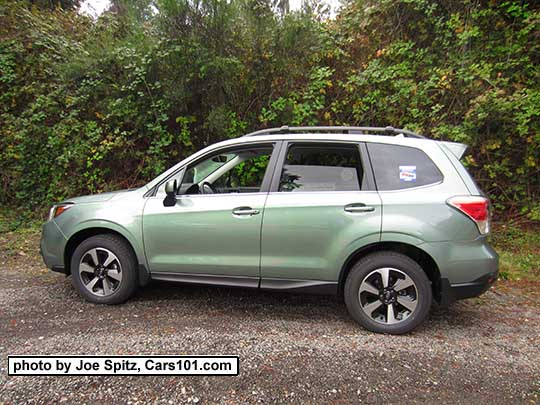 2017 Subaru Forester Jasmine Green Color A Pale Limited Model Shown