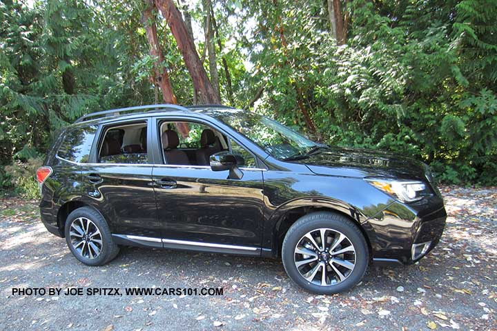 2018 And 2017 Subaru Forester 2 0xt Touring Crystal Black Silica