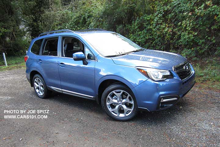 2017 Quartz Blue Subaru Forester Touring Model 2 5i Shown With 18 Brushed Silver