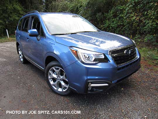 2017 Subaru Forester 2 5i Touring 18 Brushed Silver Wheels Quartz Blue Color
