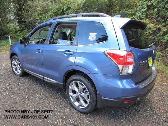 Quartz Blue Color Shown 2017 Subaru Forester 2 5i Touring 18 Brushed Silver Wheels Chrome Rocker Panel