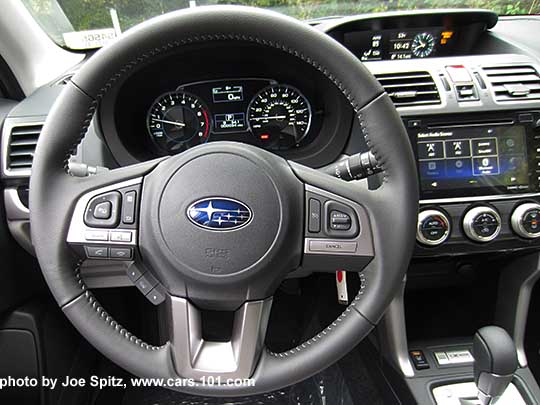 2017 Subaru Forester 2.5i Limited leather wrapper steering wheel with ...