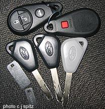 Subaru Keyless Entry Security Alarm Immobilizer Key